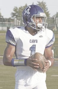 Carman-Ainsworth's Troy Brown (1) had four catches for 75 yards and one touchdown against Midland Dow.