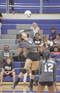 Carman-Ainsworth's Emily Carroll, seen here going up for a kill, is one of the key players for her team in the districts.