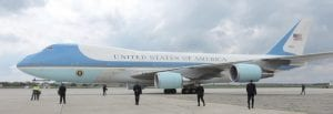 Curiosity seekers had an all-day opportunity to view Air Force One in person while it was parked at Bishop Airport during a May visit from President Barack Obama. Right, in fallout from the Flint water crisis, businesses throughout the commercial district posted resorted to posting public signs to reassure customers that they were not supplied by contaminated Flint water.