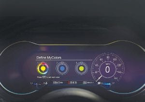 2018 Ford Mustang digital instrument cluster.