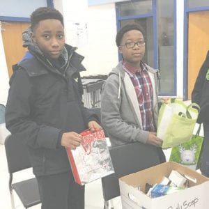 The Closet at CAMS provide students with hygiene supplies but gives these National Junior Honor Society members a chance to provide a service to their school community.