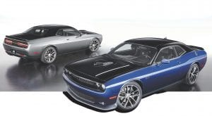 The Limited Edition Mopar '17 Dodge Challenger will be available in Contusion Blue or Billet Silver with the upper portion in hand-painted Pitch Black.
