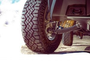 Revolutionary, segment-exclusive Multimatic Dynamic Suspensions Spool Valve (DSSVTM) dampers and 31-inch Goodyear Wrangler Duratrac off-road tires are standard on the 2017 Chevy Colorado ZR2.