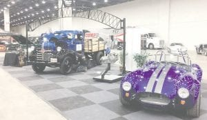 """The 1974 Ford Bronco, 1941 Dodge truck and 427 Cobra """"kit"""" car on display at the Baker College booth for Detroit AutoRama are shining examples of work by students in the college's automotive programs."""
