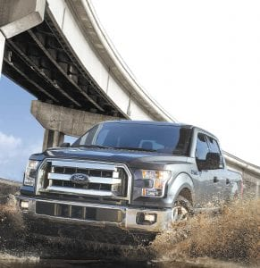 The Ford F-150 is J.D. Power's 2017 Vehicle Dependability Study award recipient for large light duty pickup.