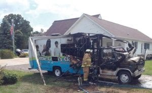 A fire last August destroyed a mobile response vehicle used to help needy families.