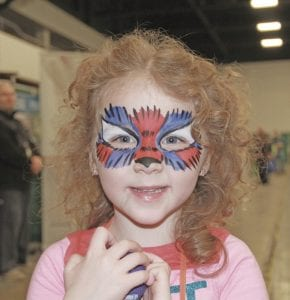 Myla Troquille, 4, of Mt. Morris, took advantage of the free face painting at the 2017 Spring Home & Garden Show, which was held over the weekend at Dort Federal Credit Union Event Center. Along with face painting, the annual event offered something for everyone, from product displays to gardening tips and demonstrations.