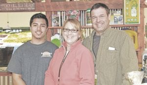 Outdoor Solutions Landscaping, a Mt. Morris-based company, was among the 50-plus vendors at the 2017 Spring Home & Garden Show over the weekend. Armando Castillo, the foreman at Outdoor Solutions, along with Co-owner Pam Wycoff and Owner Matt Wycoff, spoke with attendees about their company's products and services.