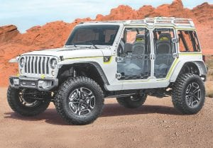 The Jeep Safari concept is all about bringing the outdoors in while keeping the doors and roof on.