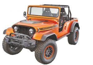 The Jeep CJ66 is a unique cocktail of three Jeep vehicle generations and demonstrates that new Mopar power applications are also available for those more at home on the trail than on the street.