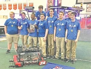 Carman-Ainsworth HS robotics team won a tournament last week and qualified to compete this week in the state championship in Saginaw.