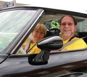 George and Peggy Patten, of Lapeer, made it to Saint Louis safe and sound in their 1979 black Chevrolet Corvette. The Pattens, who are on the board for the annual event, have been attending the event for more than a decade.