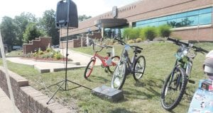 The free bike giveaway, sponsored by Target, is always a favorite at the annual event.