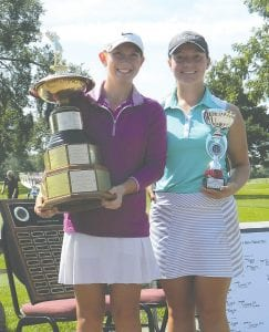 Kerrigan Parks (left) won the final FJGA tournament of the season after defeating Cammi Lucia (right).