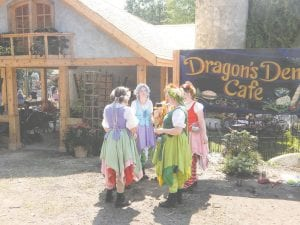 The newly remodeled Dragon's Den features new seating to better accommodate hungry festival-goers.