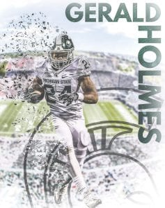 Michigan State University senior running back and Carman-Ainsworth grad Gerald Holmes.