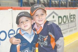 Ethan and Damon Fawcett, 3 and 6 respectively, of Swartz Creek, had a great time at the Firebirds' Fan Fest on Wednesday, taking turns playing putt-putt golf, as well as a number of other family-friendly activities.