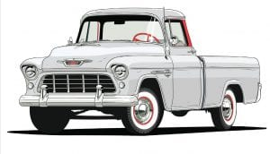 1955 3124 Series Cameo Carrier