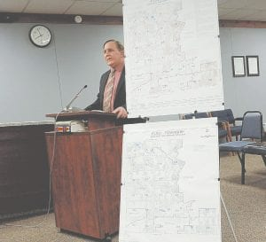 Mike Pifer of Kraft Engineering presented a preliminary report on the status of the township's aging sewer system.