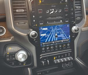 Ram's new 1500 is the benchmark for technology and connectivity in pickups offering a segment-leading 12-inch touchscreen featuring split-screen capability for dualapplication operation or full-screen single application operation.