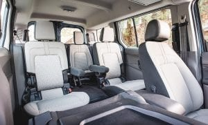 With space for up to seven, 2019 Ford Transit Connect Wagon easily switches from work to play to accommodate entrepreneurial small business needs, hobbies and grandkids.
