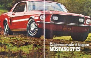 1968 Mustang GT/CS brochure cover.