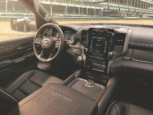 The Kentucky Derby Edition includes premium full-leather front and rear reclining seats with heating and cooling, genuine wood and metal trim.