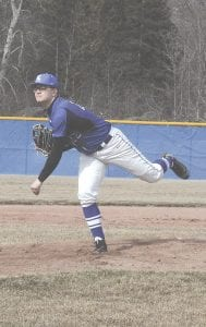 Carman-Ainsworth's Chase Matusik takes the mound against Kearsley on March 26.