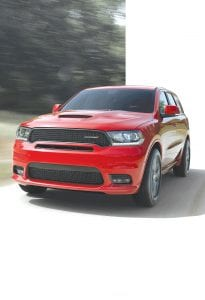 New Dodge Durango GT Rallye Appearance Package adds performance hood, performance front fascia and LED fog lamps.