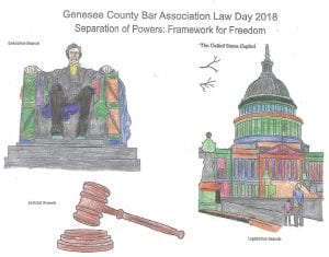 "The first-place winner in the second grade for the Law Day poster contest for elementary school students, depicts this year's theme ""Separation of Powers: Framework for Freedom."" Winners were also chosen for third, fourth and fifth-grade students."