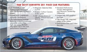 2019 Chevrolet Corvette ZR1 will set the pace for the 102nd Indianapolis 500 on Sunday, May 27. No other vehicle has served as the Pace Car for the Indy 500 more than the Corvette.