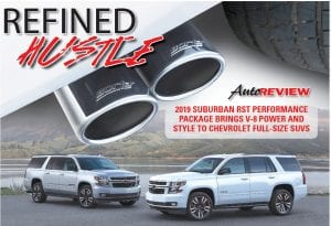 The Performance Package is available as an upgrade to the Tahoe and Suburban RST. Customers can order the Performance Package on the Tahoe RST now, and on the Suburban RST in summer 2018. Top: An available performance exhaust package features custom tuned Borla Performance Dual-Side Exit exhaust system, with sleek exhaust tips.