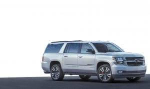 The 2019 Suburban RST Performance Package features a 420-hp, 6.2L V-8 engine, Magnetic Ride Control with performance calibration, and a new Hydra-Matic 10L80 10-speed transmission.
