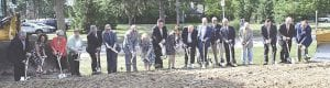 State and local leaders took part in Tuesday's ground-breaking ceremony Photo by Ben Gagnon