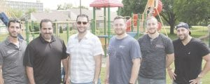 The Summer Kickoff 2018, a fun-filled barbecue for the children who receive services from Whaley Children's Center, was donated in full by a group of friends from the surrounding Genesee County community. From left, Mikey Fanous, Ronny Medawar, Andre Zerka, Tony Gebrael, Chris Gebrael and Nadeem Gebrael donated their time and resources to offer the underprivileged children at Whaley a fun afternoon with catered food, music, inflatables, a waterslide and games.