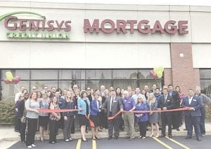 The recent ribbon-cutting for the new Genisys Credit Union Mortgage Office Photo provided