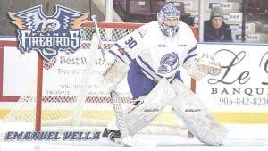 New Flint Firebirds' goaltender Emanuel Vella Photo provided