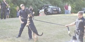 Flint Twp. K-9 Unit demonstration