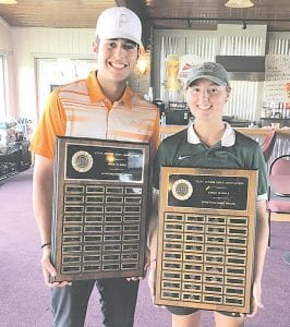 Both Brendan Silpoch of Grand Blanc and Morgan Swett of Goodrich were given the FJGA's Sportsmanship of the Year awards Wednesday.