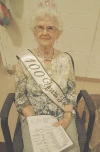 Anna Boyd was the guest of honor at a party put on by members of the United Methodist Church of Swartz Creek, to celebrate her 100th birthday. Photo by Lania Rocha