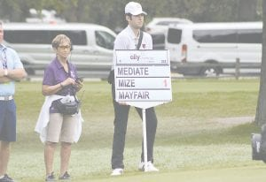 Grand Blanc High varsity golfer Brendan Silpoch, was selected as one of the standard bearers for the Ally Challenge. Photo by Austin VanDaele